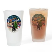 Xmas Magic - Great Dane (black-natu Drinking Glass