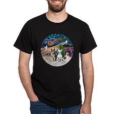 Xmas Magic - Bull Terriers (two) T-Shirt
