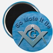 "Masonic So Mote It Be 2.25"" Magnet (10 pack)"