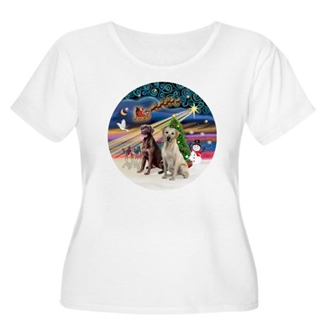 Xmas Magic - Women's Plus Size Scoop Neck T-Shirt