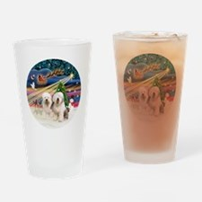 Xmas Magic - Old English (two) Drinking Glass