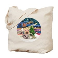 Xmas Magic - Pekingese (Three) Tote Bag