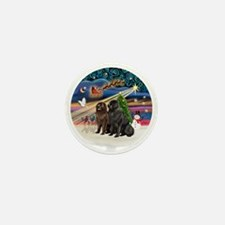 Xmas Magic - Newfoundland (TWO-Blk-Bro Mini Button