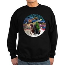 Xmas Magic - Labradors (black-ch Sweatshirt