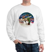 Xmas Magic - Shelties (TWO sable-white) Sweatshirt