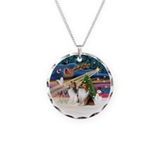 Xmas Magic - Shelties (TWO s Necklace