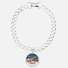 Xmas Magic - Pugs (Two f Bracelet