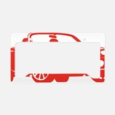 2-NC red License Plate Holder
