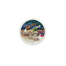 Xmas Magic - Shih Tzu (TWO - P+Y) Mini Button