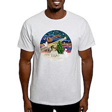 Xmas Magic - Shih Tzu Puppy (brown-w T-Shirt