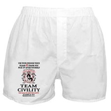 3-TEAM CIVILITY indoor voice copy Boxer Shorts