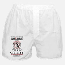 3-TEAM CIVILITY indoor voice copy Boxer Shorts