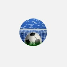 Soccer Goal and success Mini Button