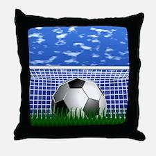 Soccer Goal and success Throw Pillow