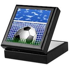 Soccer Goal and success Keepsake Box