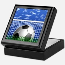 Soccer Goal and success Keepsake Box