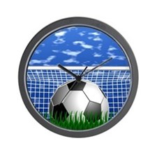 Soccer Goal and success Wall Clock