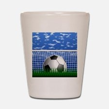Soccer Goal and success Shot Glass