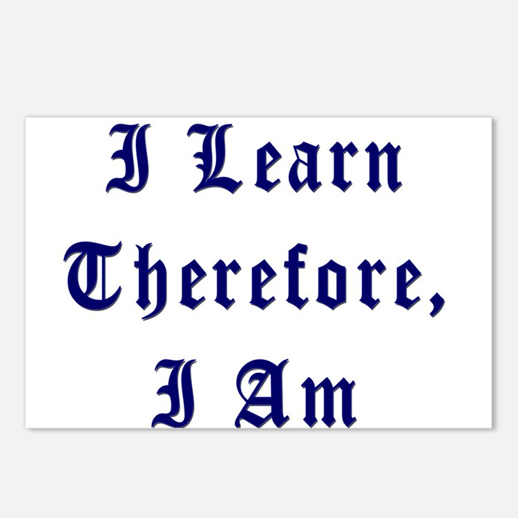 I Learn Therefore I Am Postcards (Package of 8)