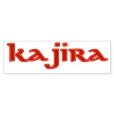 kajira red Bumper Sticker
