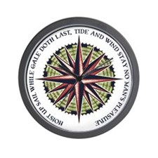 compass-rose3-LTT Wall Clock
