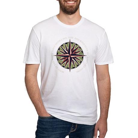 compass-rose3-DKT Fitted T-Shirt