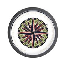 compass-rose3-DKT Wall Clock
