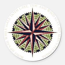 compass-rose3-DKT Round Car Magnet