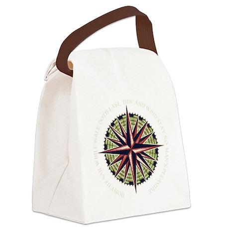 compass-rose3-DKT Canvas Lunch Bag
