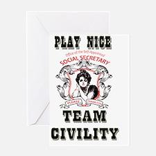 Play Nice team civility T Greeting Card