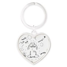 NEW med Rizzo Heart Keychain