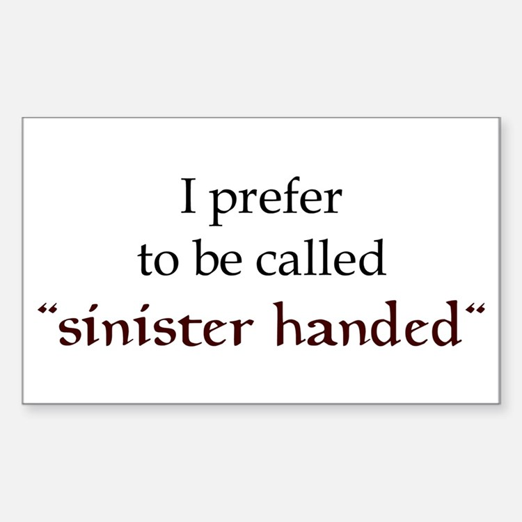 Sinister Handed Rectangle Decal