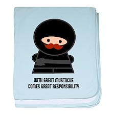 Great Responsibility Ninja baby blanket