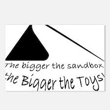 Bigger Sandbox BLACK Postcards (Package of 8)
