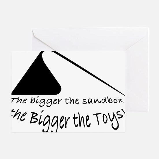 Bigger Sandbox BLACK Greeting Card