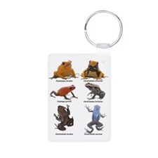 2-poison frogs black text Keychains