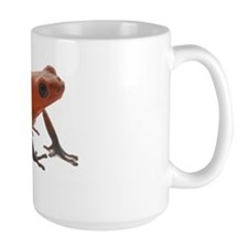 Oophaga pumilio white text Mug