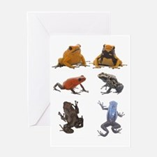 poison frogs white  text Greeting Card
