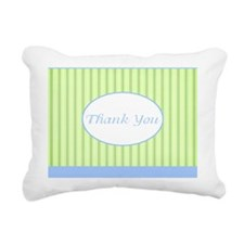 Thank you note cards gre Rectangular Canvas Pillow