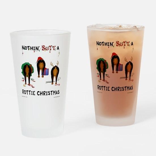 RottieShirt Drinking Glass