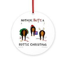 RottieShirt Round Ornament