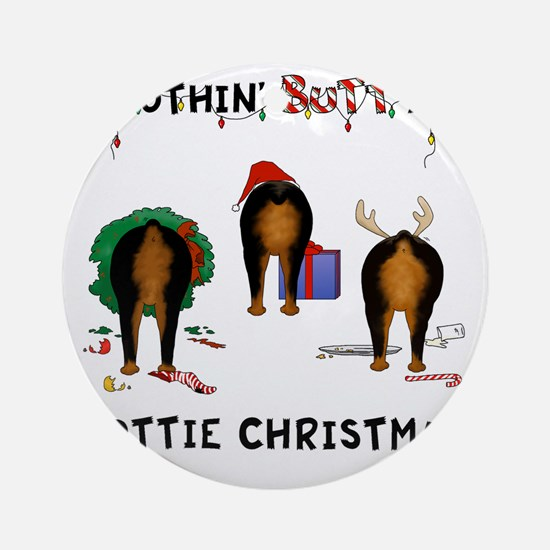 RottieShirt Round Ornament