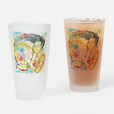 Drumming in Spirit Drinking Glass
