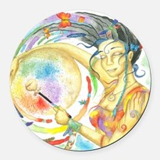 Drumming in Spirit Round Car Magnet