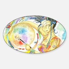 Drumming in Spirit Sticker (Oval)
