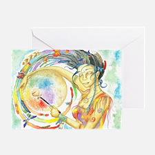 Drumming in Spirit Greeting Card
