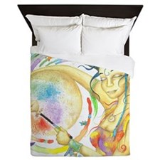 Drumming in Spirit Queen Duvet