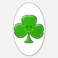 Baby Shamrock Smiley Oval Decal