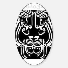 ontol anarch arabic lionBLACKSHIRT Sticker (Oval)