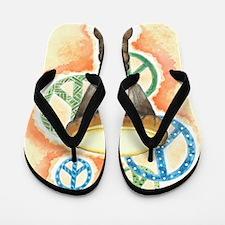 Peace Through Music Flip Flops
